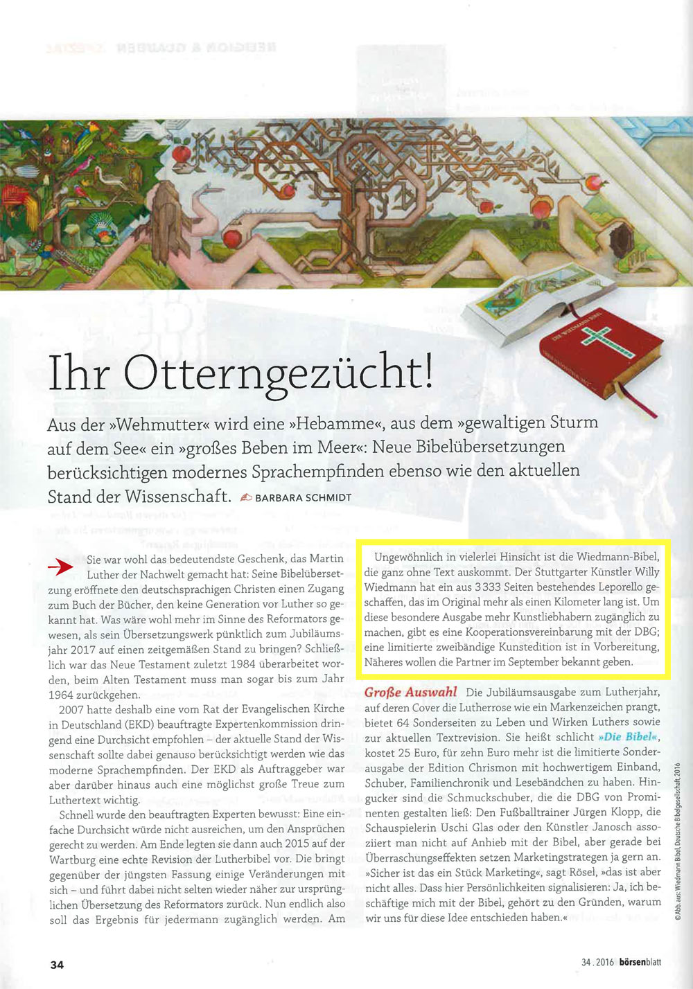 Source: Börsenblatt August 2016 - Religion & Glauben