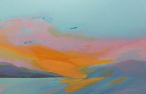 Farblandschaft-Wolkenbild