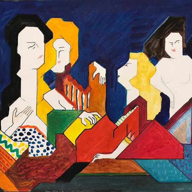 Women paintings by Willy Wiedmann
